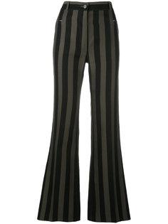 расклешенные брюки в полоску Nina Ricci