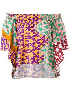 блузка шифт с открытыми плечами Tsumori Chisato