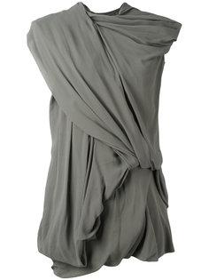 драпированное платье Rick Owens