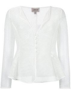 прозрачный полосатый пиджак Armani Collezioni