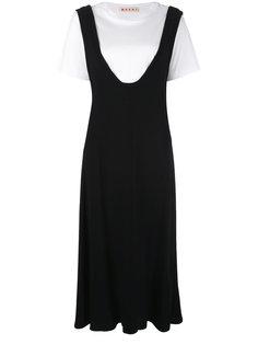 многослойное платье макси Marni