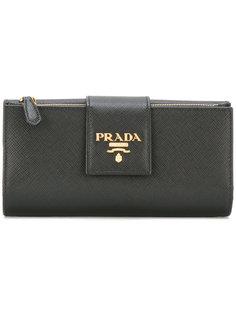 большой кошелек с логотипом  Prada