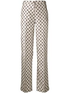 брюки с геометрическим узором Alberto Biani