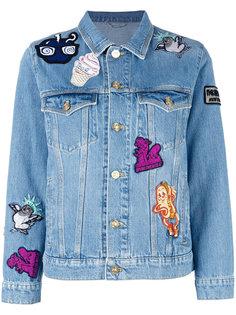 джинсовая куртка с нашивками Kenzo