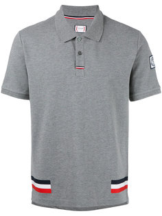 трехцветная рубашка-поло Moncler Gamme Bleu