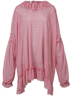 блузка свободного кроя с оборками Jourden