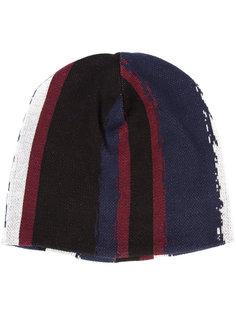 шапка-бини с полосатым принтом Baja East