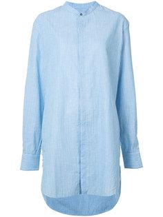 длинная полосатая рубашка Baja East