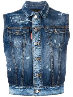 джинсовая куртка без рукавов Dsquared2