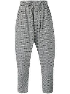 укороченные брюки с принтом Casey Casey