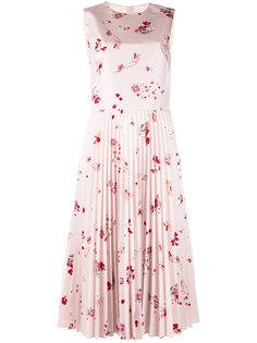 плиссированное платье с цветочным рисунком Red Valentino