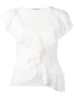 футболка с оборками Givenchy
