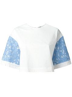 блузка с кружевными рукавами MSGM