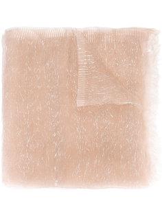 шарф с отделкой металлической нитью Faliero Sarti