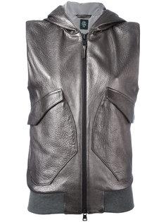 куртка с капюшоном без рукавов Eleventy