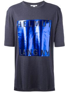 футболка с деталью металлик Helmut Lang