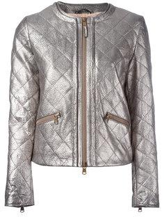 стеганая куртка металлик Eleventy