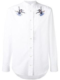 рубашка с вышитыми птицами Alexander McQueen