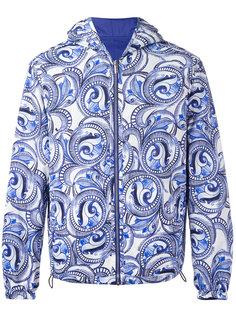 двусторонняя куртка Maiolica Baroque с капюшоном Versace