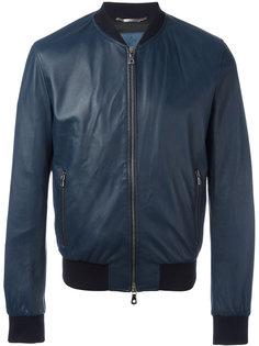 кожаная куртка бомбер Dolce & Gabbana