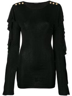 блузка с оборками и пуговицами Balmain