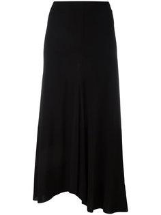 длинная юбка с асимметричным подолом Alberto Biani
