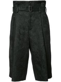 укороченные брюки с поясом Aganovich