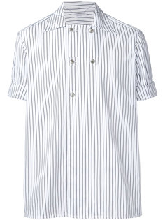 рубашка в полоску с короткими рукавами Aganovich