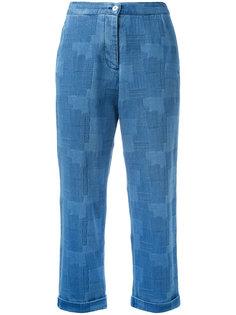 джинсы с лоскутным узором YMC