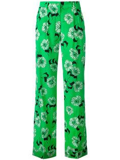 брюки с цветочным узором P.A.R.O.S.H.