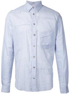 рубашка в полоску с панельным дизайном Forme Dexpression