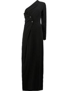 платье на одно плечо с двубортным дизайном Ann Demeulemeester