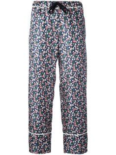 укороченные брюки с цветочным узором Moncler