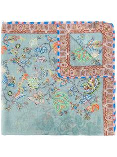платок в клетку с цветочным узором Etro