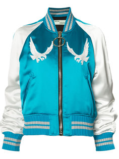 куртка-бомбер с вышивкой птиц Off-White