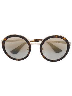 солнцезащитные очки с эффектом черепашьего панциря Prada Eyewear