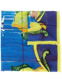 шарф с абстрактным принтом Fefè