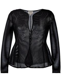 прозрачная расклешенная куртка Armani Collezioni