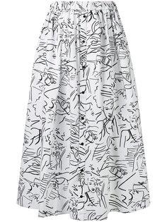длинная юбка с узором Kenzo