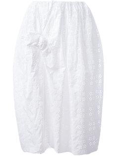 вышитая юбка с бантом спереди Simone Rocha