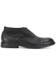 туфли на шнуровке с эффектом потертости Pantanetti