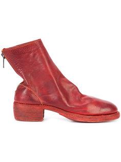 ботинки с молниями сзади Guidi