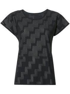 футболка с узором в виде степеней Pleats Please By Issey Miyake