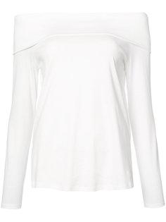футболка с открытыми плечами Tibi