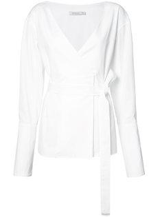 блузка с запахом на завязке Protagonist
