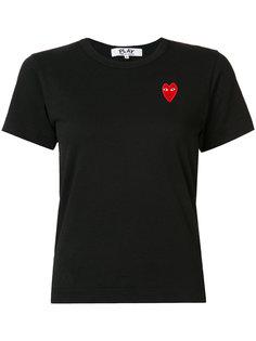 футболка с вышитыми сердцами Comme Des Garçons Play