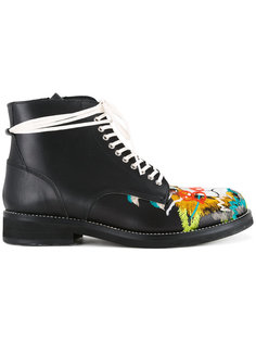 ботинки с вышивкой черепа Doublet