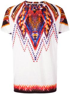 футболка с фольклорным принтом Balmain