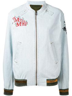 куртка бомбер с нашивками Mr & Mrs Italy