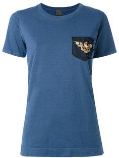 футболка с вышитым орлом  Mr & Mrs Italy